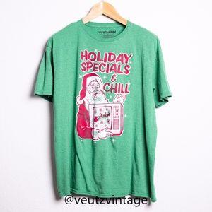 Holiday Specials & Chill Santa Christmas Shirt XL